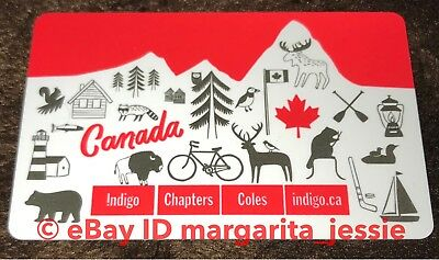 """Indigo Chapters Coles """"Canada Day"""" Forest Animals Gift Card No Value New"""