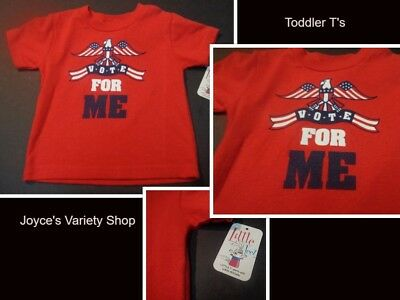 """CUDDLY HUGS T-Shirt /""""VOTE FOR ME/"""" 100/% Cotton YELLOW Toddler EAGLE *YOU CHOOSE*"""