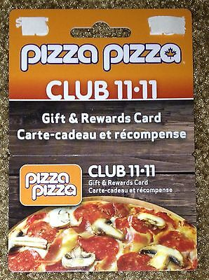 Pizza Pizza Club 11-11 Gift Card Rewards Hanger Card New No Value Canada