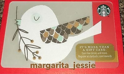 "Starbucks Us Gift Card ""little Birds Gift"" Holiday Series 2016 New No Value 6127"