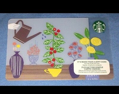 Starbucks Spring Watering Gift Card No Value #6105 New Release Canada 2015