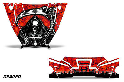 UTV Hood and Tailgate Graphics Kit Decal Wrap For Polaris General 1000 REAPER R