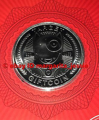 "Target Bullseye Dog 2016 Gift Card ""Silver Coin"" No Value New Collectible"