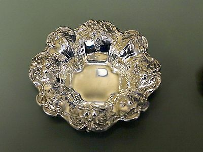 """Antique Reed and Barton Sterling Silver Nut Dish Bowl 3.5"""" 48 Grams"""