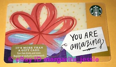 """Starbucks Us Gift Card """"You Are Amazing"""" Holiday 2017 New No Value #6142"""
