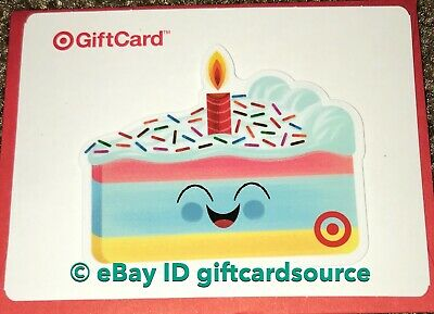 Target 2019 Die Cut Gift Card Happy Birthday Cake No Value New Collectible
