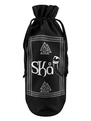 Bottle Bag Skål Cotton Drawstring Black 17 x 37cm