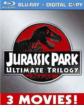 Jurassic Park Collection (Blu-ray Disc, 2011, 3-Disc Set) Sealed New