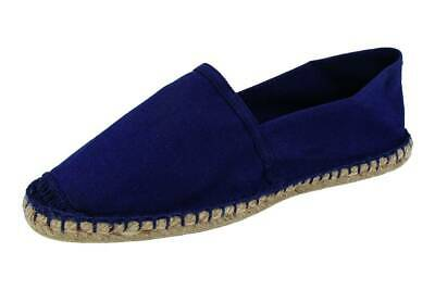 DE FONSECA uomo espadrillas mocassini slip on tessuto canvas fashion Blu