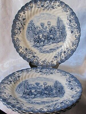 Vintage Johnson Brothers Coaching Scenes Dinner Plate (4)
