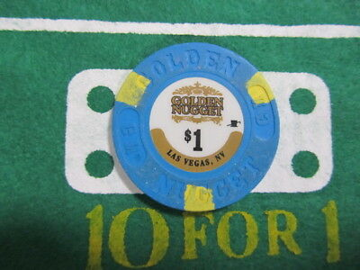$1 GOLDEN NUGGET Casino Las Vegas Nevada + FREE Mystery Bonus Poker Chip
