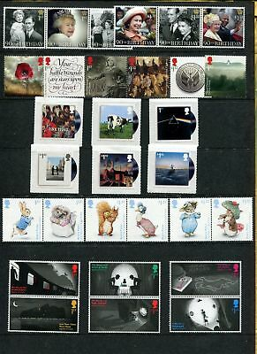 GB 2016 Commemorative Stamps~Year Set~Unmounted Mint~no m/s~UK Seller