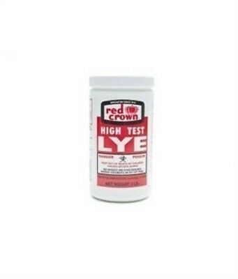 RED CROWN High Test Lye for Making Award-Winning Handcrafted Soaps 2 lb. (1, Foo