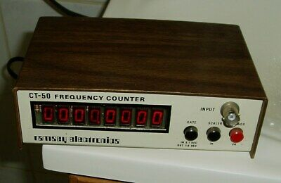 Vintage Ct-50 Frequency Counter Ramsey Electronics Tested Working Ex