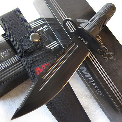 """Ultimate Hunter 9 1/2"""" Combat Hunting Knife with Survival Kit and Compass MTech"""