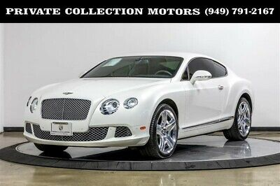 2012 Bentley Continental GT  2012 Bentley Continental GT Coupe Mulliner Pearl White Rare Color 2 owner
