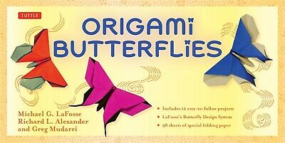 Origami Butterflies Kit Kit Includes 2 Origami Books 12 Fun Pro by Lafosse Micha