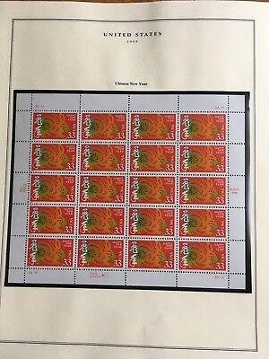 Us Stamp Scott 3272 Chinese New Year Sheet Issued 1999