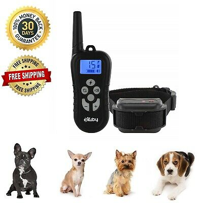 Dog Shock Collar With Remote Waterproof Electric for Large Pet Training 1000ft