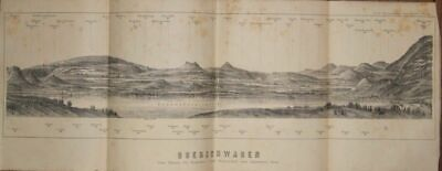 Bodenseepanorama Lithographie 1886