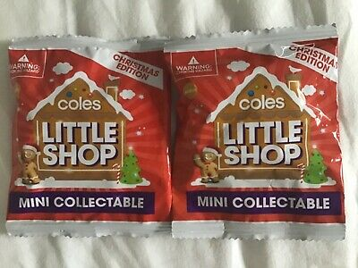 Coles Little Shop Collectors Case Christmas Edition - 2 brand new unopened