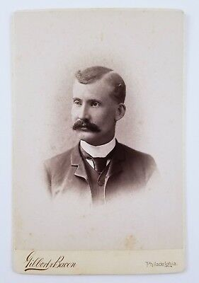 ID'd Cabinet Card Photograph Portrait Of A Man Swarthmore College Class Of 1888