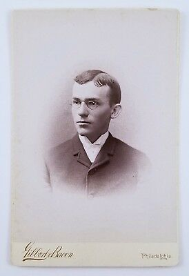 ID'd Cabinet Card Photo Portrait of Man Swarthmore College Class Of 1888 Phila