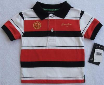 NWT Sean John Boys Red Black & White Polo(Size 6-12 Months) MSRP$34.00 NEW