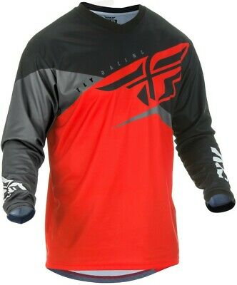 Fly Racing F-16 Mens MX Offroad Jersey Red/Black/Gray