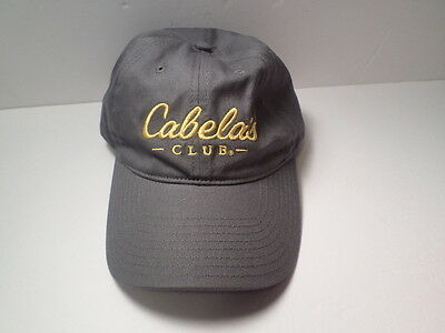 c4a2ec78fc498 Cabela s Club Gray   Yellow Embroidered Adjustable HAT Cap Hunting Fishing