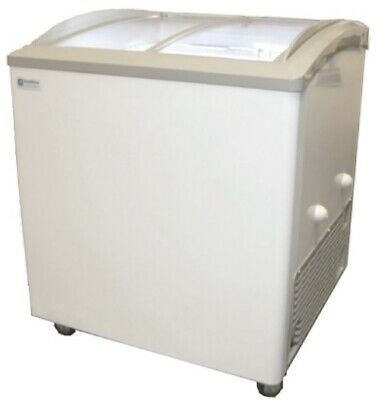 """NEW 32"""" 3 Basket Glass Top Ice Cream Chest Freezer Excellence VB-3HC #9694 NSF"""