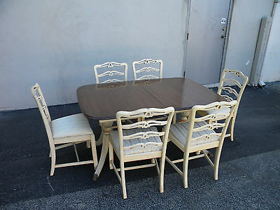 Mahogany Painted Dining Table with Six Chairs by Morganton 3703
