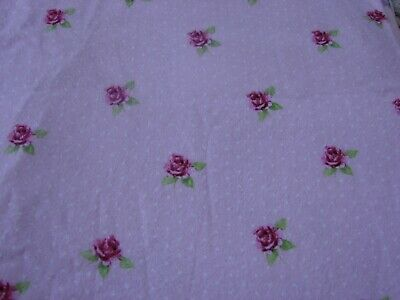 Flannelette Roses Pink Fitted Cot Sheet Handmade