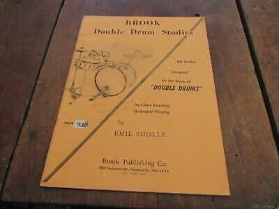 1961 Brook Double Drum Studies By Emil Sholle Orchestral Playing Music