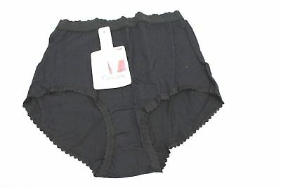VTG Briefs Panties Christies Black 100% Cotton  Sz 6,  NWT NOS