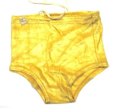 VTG  Boys SWIM Swimming SUIT Trunks NWT 1930s Dead Stock Yellow Rayon Knit SZ 4