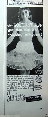VTG Little Girls Starletta Petticoat Full Slip NOS  Original Package 1950s SZ 1