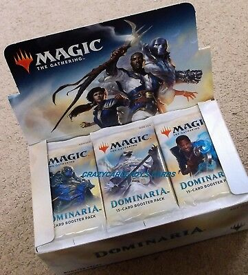 Magic The Gathering Dominaria Booster 1/4 Box Lot = 9 Booster Packs Free Ship