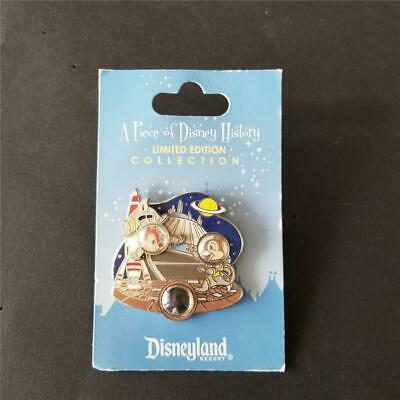 DLR Piece of Disney History 2012 - Space Mountain Chip & Dale Disneyland LE Pin