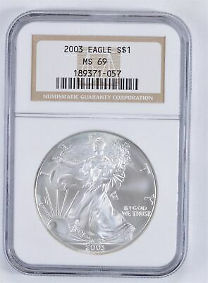 MS69 2003 American Silver Eagle - Graded NGC *911
