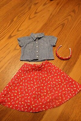 American Girl Red Handband with Flowers from the Play outfit - 1998