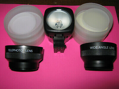 VHS Camcorder Lenses and Light - Telephoto - Wide Angle - Sears, Others