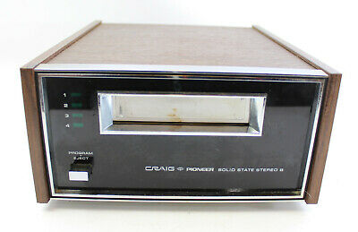Vintage Craig Pioneer 3207 Solid State Stereo 8-Track Player