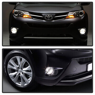 For 2013-2015 Toyota RAV4 RAV-4 Bumper Fog Lights Lamps+Switch Left+Right 13-15