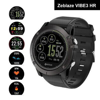 Zeblaze Vibe 3 Hr Smart Watch Heart Rate Ip67 Waterproof Monitor For Android Ios