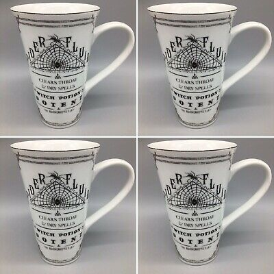 x4 222 Fifth Halloween Latte Mug HALLOW APOTHECARY Spider Fluids Witch Potion