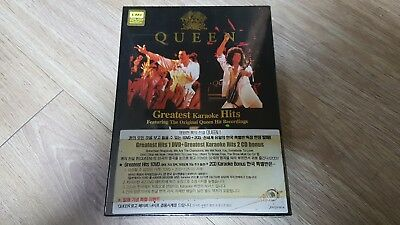 QUEEN - Greatest Karaoke Hits Box 2CD+1DVD (with Promo T-shirt) NEW Korea Only