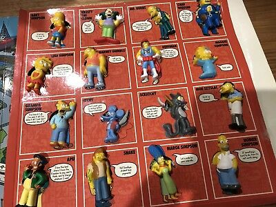 Simpsons 20 Year Stick Ems Set , Simpsons Suction Caps