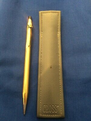 Cross 10 Kt Gold Eletroplated Lead Pencil Anheuser-Busch Logo On Clip