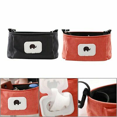 Stroller Pram Pushchair Baby Organiser Mummy Bag Storage Cup Bottle Holder %N